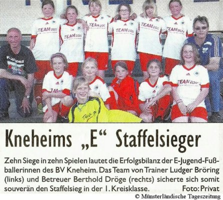 E-Juniorinnen Staffelsieger (MT 30.06.2011)